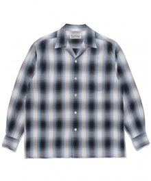WACKOMARIA<BR> OMBRAY CHECK OPEN COLLAR SHIRT(TYPE-2)(BLUE)【SOLD OUT】<img class='new_mark_img2' src='https://img.shop-pro.jp/img/new/icons50.gif' style='border:none;display:inline;margin:0px;padding:0px;width:auto;' />
