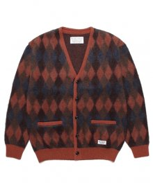 WACKOMARIA<BR>DIAMOND MOHAIR CARDIGAN(BROWN)【SOLD OUT】<img class='new_mark_img2' src='https://img.shop-pro.jp/img/new/icons50.gif' style='border:none;display:inline;margin:0px;padding:0px;width:auto;' />