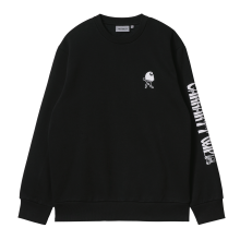 <img class='new_mark_img1' src='https://img.shop-pro.jp/img/new/icons15.gif' style='border:none;display:inline;margin:0px;padding:0px;width:auto;' />Carhartt WIP<BR>REMOVALS SWEATSHIRT(BLK/WHT)