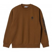 <img class='new_mark_img1' src='https://img.shop-pro.jp/img/new/icons15.gif' style='border:none;display:inline;margin:0px;padding:0px;width:auto;' />Carhartt WIP<BR>REMOVALS SWEATSHIRT(TAWNY/BLK)