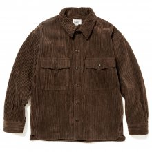 <img class='new_mark_img1' src='https://img.shop-pro.jp/img/new/icons15.gif' style='border:none;display:inline;margin:0px;padding:0px;width:auto;' />CALEE<BR>CORDUROY OVER SILHOUETTE SHIRT JACKET(BROWN)
