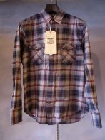 LOSTCONTROL<BR> Nel Plaid Western SH【SOLD OUT 】<img class='new_mark_img2' src='https://img.shop-pro.jp/img/new/icons50.gif' style='border:none;display:inline;margin:0px;padding:0px;width:auto;' />