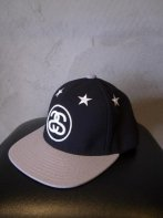 STUSSY KIDS <BR> Kids 6 Stars Snapback(Black/Gray)【SOLD OUT】<img class='new_mark_img2' src='https://img.shop-pro.jp/img/new/icons50.gif' style='border:none;display:inline;margin:0px;padding:0px;width:auto;' />