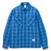 """<img class='new_mark_img1' src='https://img.shop-pro.jp/img/new/icons35.gif' style='border:none;display:inline;margin:0px;padding:0px;width:auto;' />BEDWIN<BR>L/S OG FLANNEL CPO SHIRT""""RICHARDS""""(BLUE)"""
