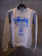 STUSSY KIDS <BR> Kids World Tour Crew(GRAY)【SOLD OUT】<img class='new_mark_img2' src='https://img.shop-pro.jp/img/new/icons50.gif' style='border:none;display:inline;margin:0px;padding:0px;width:auto;' />