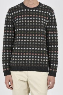 <img class='new_mark_img1' src='https://img.shop-pro.jp/img/new/icons15.gif' style='border:none;display:inline;margin:0px;padding:0px;width:auto;' />LAD MUSICIAN <BR>DOT FAIR ISLE KNIT PO(CHARCOAL MIX)