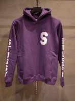 STUSSY KIDS <BR>Kids SS Sleeve Hoodie(PURPLE)【SOLD OUT】<img class='new_mark_img2' src='https://img.shop-pro.jp/img/new/icons50.gif' style='border:none;display:inline;margin:0px;padding:0px;width:auto;' />