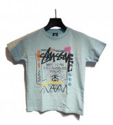 STUSSY KIDS <BR>Kids WT Doodie Tee(Lt.Blue)【SOLD OUT】<img class='new_mark_img2' src='https://img.shop-pro.jp/img/new/icons50.gif' style='border:none;display:inline;margin:0px;padding:0px;width:auto;' />