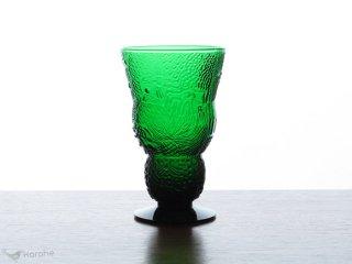 Nuutajarvi Arabia Fauna ワイングラス h14cm グリーン