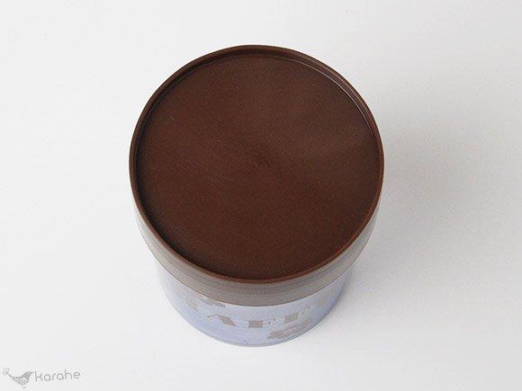 Erik Kold コーヒーキャニスター ブラウンフラワー h16.5cm  (6035/50)