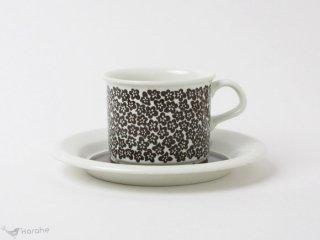 Arabia Faenza コーヒーカップ&ソーサー ブラウン