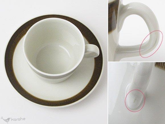 Rorstrand Koka コーヒーカップ&ソーサー ブラウン