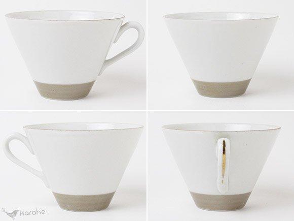 Arabia コーヒーカップ&ソーサー ベージュゴールド