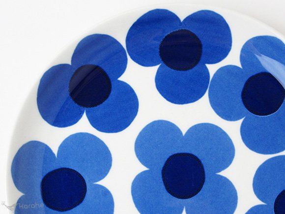 Arabia Aurinko プレート 17cm ブルー