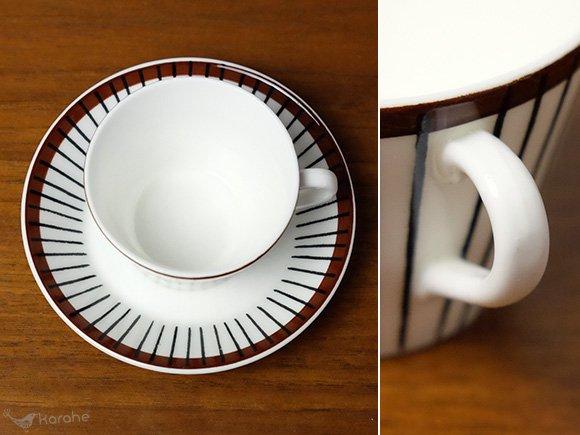 Gustavsberg Spisa Ribb コーヒーカップ&ソーサー