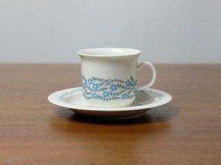 Arabia Arctica Rosette コーヒーカップ&ソーサー ブルー