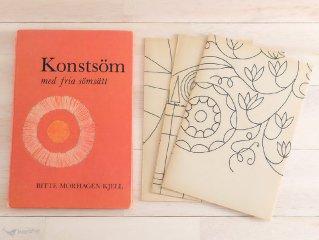 Konstsom med fria somsatt / スウェーデン 刺繍の本
