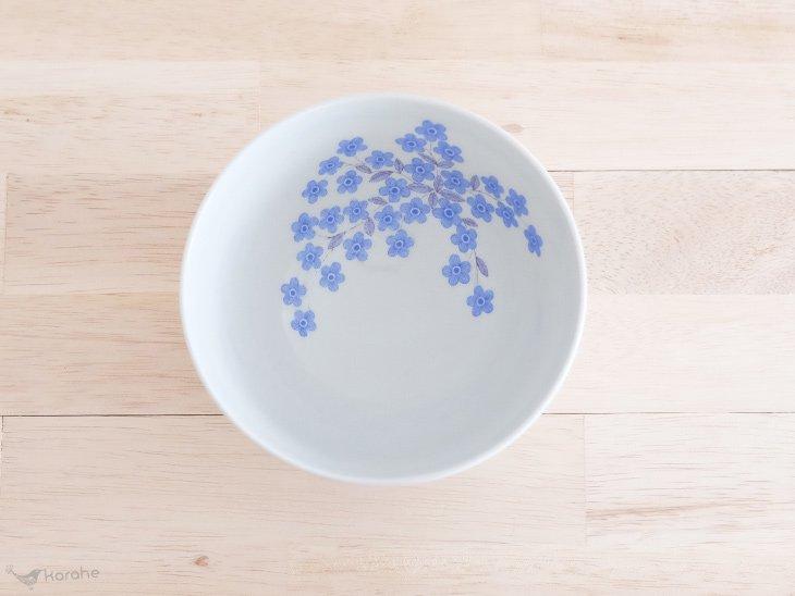 Arabia ボウル 青いお花 13.5cm