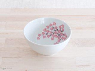 Arabia ボウル ピンクのお花 13.5cm
