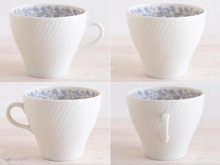 Arabia コーヒーカップ&ソーサー グレーの花柄