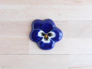 陶器の壁掛け パンジー 8.5cm