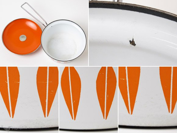 キャサリンホルム ロータス 片手鍋 18cm ホワイトxオレンジ / Cathrineholm Lotus