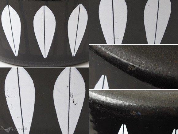 キャサリンホルム 両手鍋 27cm ブラックxホワイト / Cathrineholm Lotus