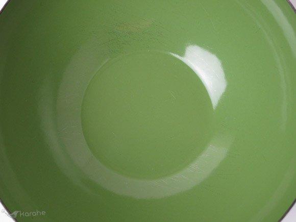 キャサリンホルム ロータス ボウル グリーンxホワイト 14cm / Cathrineholm Lotus