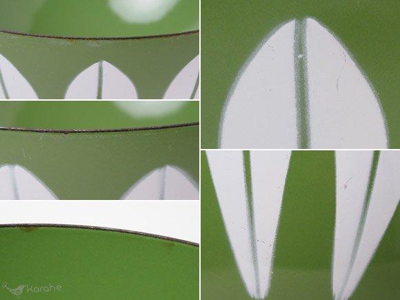 キャサリンホルム ロータス ボウル グリーンxホワイト 20cm / Cathrineholm Lotus