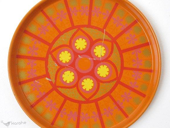 コースター オレンジのお花