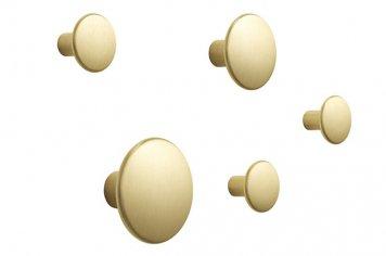 Muuto The Dots Metal Coat Hooks Brass Set ムート ドッツ メタル コートフック ブラス