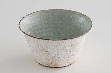 水野幸一 みずのこういち 粉引灰釉 小鉢 フリーカップ