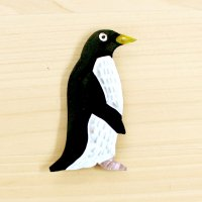 メキシコ オアハカブリキマグネットS(ペンギン)