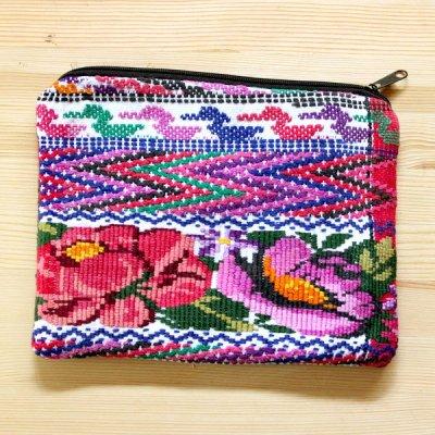 グアテマラ ウィピル刺繍ポーチM(A)