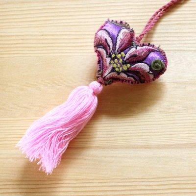 メキシコ シナカンタン刺繍ハートチャームS(E)