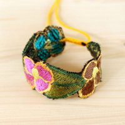 メキシコ シナカンタン刺繍ブレス(A)