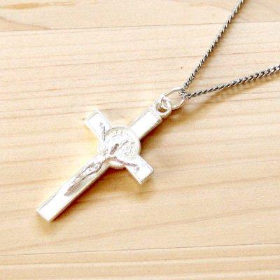 メキシコ ペンダントトップ十字架キリストM(ホワイト)