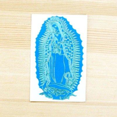 メキシコ マリアステッカーS(ライトブルー)