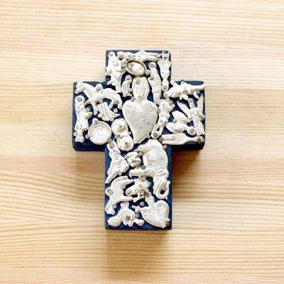 メキシコ 十字架ミラグロハートMS(ブルー)
