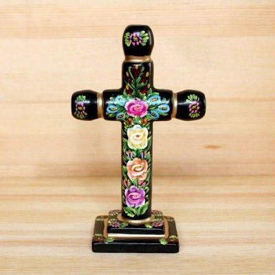 メキシコ 十字架ウッドスタンドM(ブラックB)[16cm]