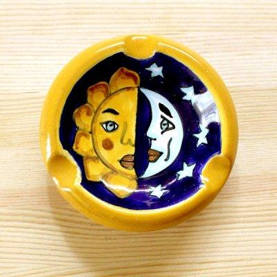 メキシコ タラベラ焼灰皿(ツキタイヨウ)