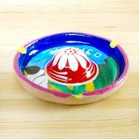 メキシコ 陶器灰皿ソンブレロサボテンM(B)