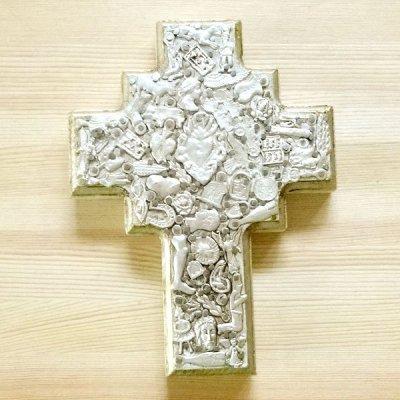 メキシコ 十字架ミラグロハートML(ホワイト)