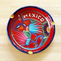 メキシコ 陶器灰皿ラウンドトリM(レッド)