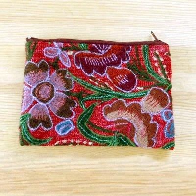 メキシコ シナカンタン刺繍ポーチM(H)