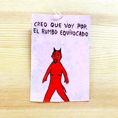 メキシコ ブリキプレート飾りS(ディアブロB)