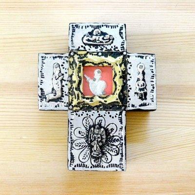 メキシコ 十字架ミラグロシルバーハートM(A)