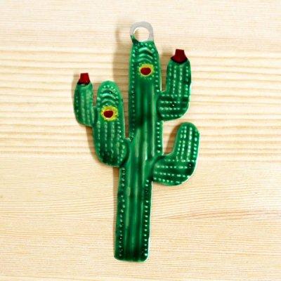 メキシコ ブリキオーナメントM(サボテンB)