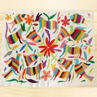 メキシコ オトミクロス刺繍L[約90×70cm]