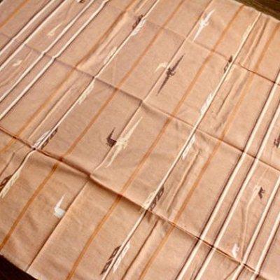 グアテマラ 刺繍テーブルクロスM(ライトブラウン)[約140×150cm]
